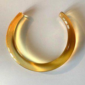 Dries Van Noten Perspex Necklace in Orange